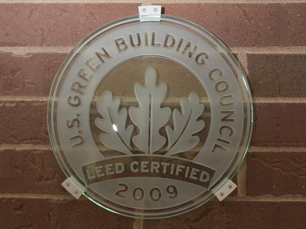 Leed certified buildings heartland community college for Leed certified house