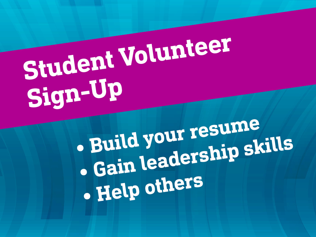 Student Volunteer Sign Up
